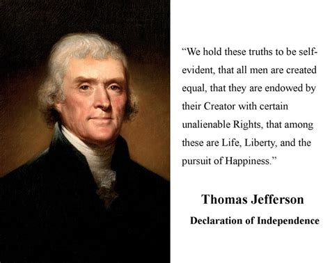 thomas jefferson declaration of independence thomas jefferson declaration of independence quote 8 x 10