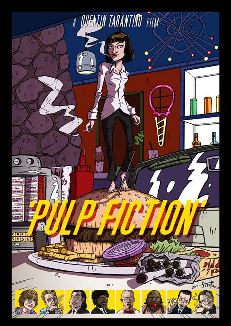 gifts for pulp fiction fans alternate poster design and fan art for tarantino s pulp