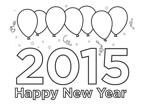 coloring pages for new year 2015 happy new year worksheets for preschoolers on happy best