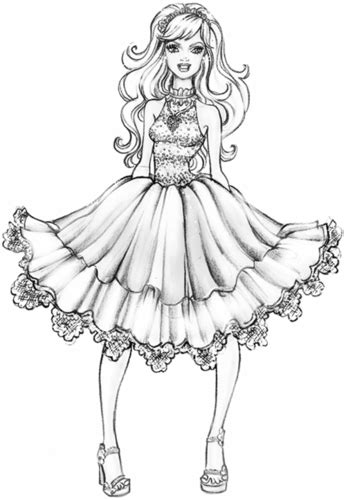 barbie fashion fairytale coloring pages games barbie a fashion fairytale images coloring page hd