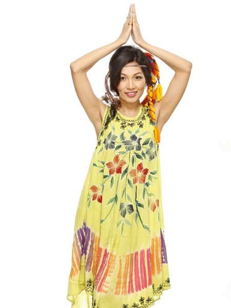 Dress Batik Handmade tie dye batik dress wholesale nepal dresses himalayan