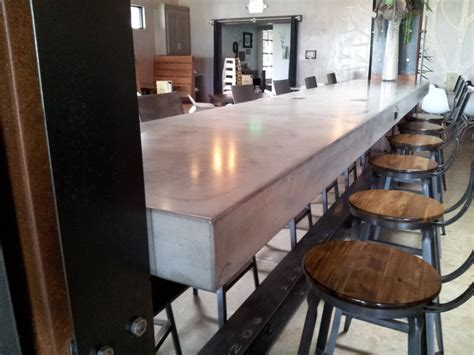 Islands Dining Room Concrete Island Countertop Industrial Dining Room