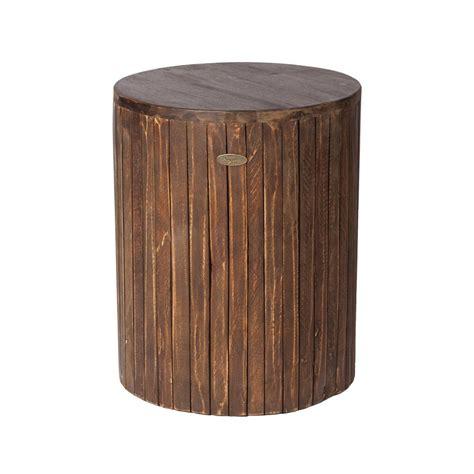 patio sense michael wood outdoor garden stool 62421