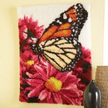 maxim latch hook rug kits maxim butterfly landing latch hook rug kit latch hook crafts paint by number kits
