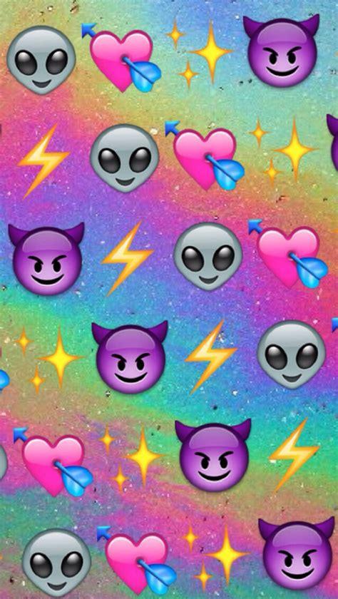 emoji wallpaper rainbow alien background colourful colours devil emoji