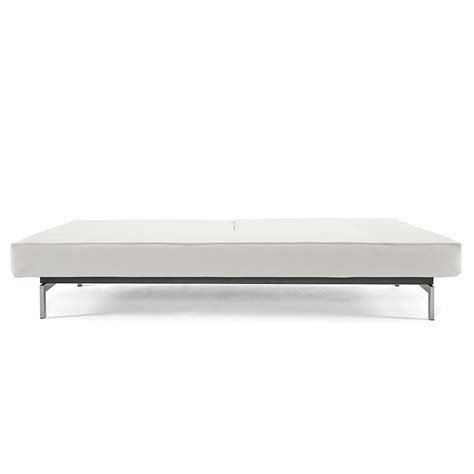 White Sleeper Sofa Splitback Sofa Sleeper In Stainless White Eurway
