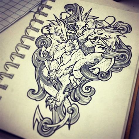 dragon tattoo sketch tattos pinterest tattoo