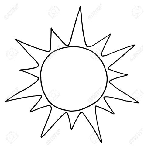 Black And White Outline Of by Sun Clipart Black And White Outline Clipartxtras