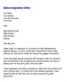 Sle For Resignation Letter From by 65 Sle Resignation Letters