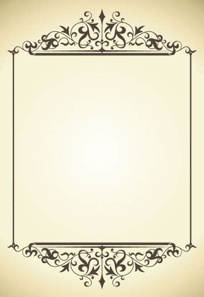 pattern frame vector classic pattern border 05 vector free vector in