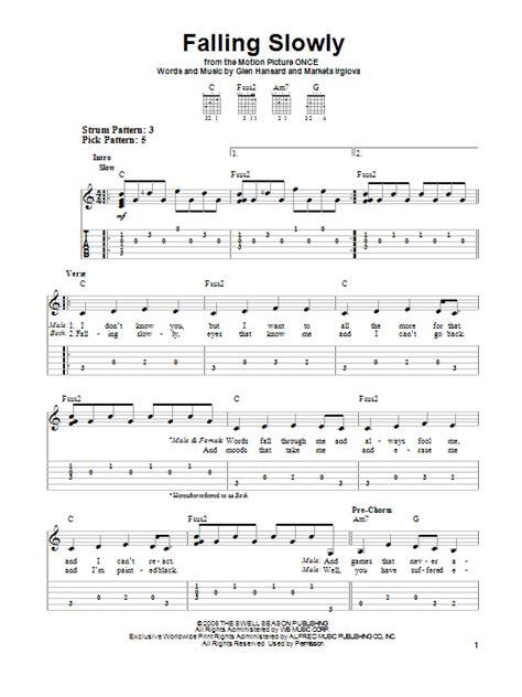 tutorial piano falling slowly falling slowly sheet music direct