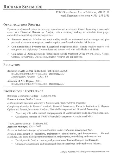 sample resume for it student with no experience sample resume for