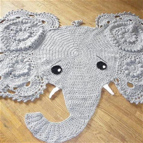 Elephant Rug For Nursery Crochet Pattern by Best Crochet Rug Products On Wanelo