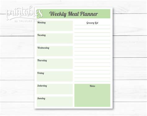editable menu planner template editable meal planner template weekly meal planner with