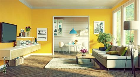 sentuhan optimis warna kuning  cat tembok interior rumah