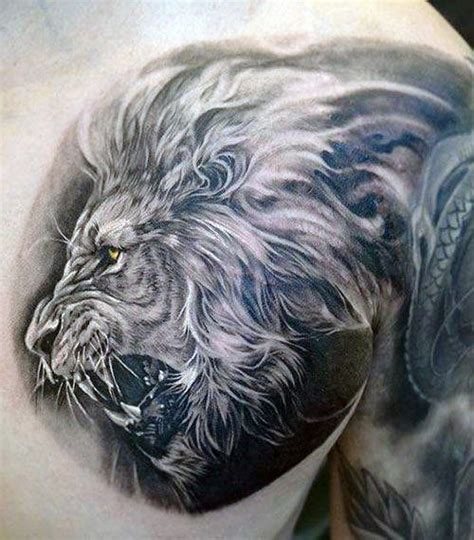 lion tattoo on your chest 70 lion chest tattoo designs for men fierce animal ink ideas