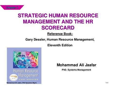 reference book human resource management strategic human resource management and the hr scorecard
