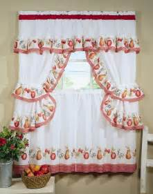 Pear Kitchen Curtains Fruitopia Complete Kitchen Curtain Set Window Curtain Fruits Apples Pears Ebay