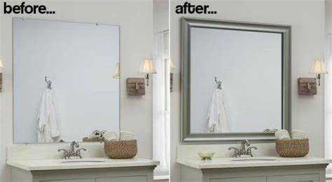 Installing A Bathroom Mirror Bathroom Mirror Frames 2 Easy To Install Sources A Diy Tutorial Retro Renovation