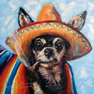 Dog Print Duvet Cover Ay Chihuahua Painting By Kristy Tracy
