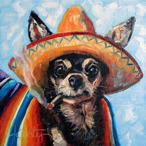 Home Decor Boston ay chihuahua painting by kristy tracy