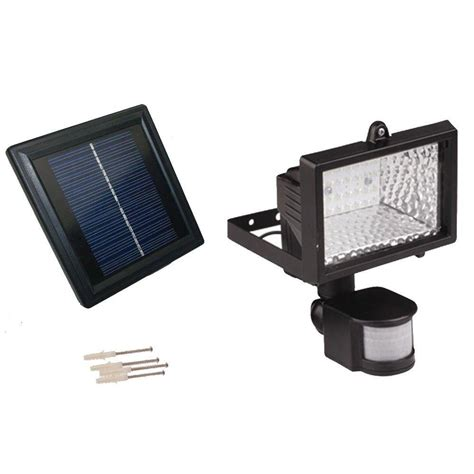 Solar Powered Lights Outdoor Solar Goes Green Solar Powered 50 Ft Range Black Motion Outdoor 28 Led Security Flood Light Sgg