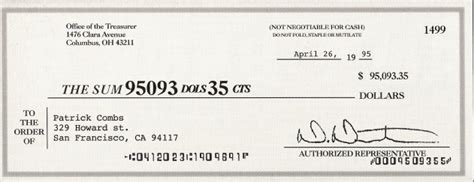 joke cheque template deposits 95 093 35 junk mail check as a joke and bank