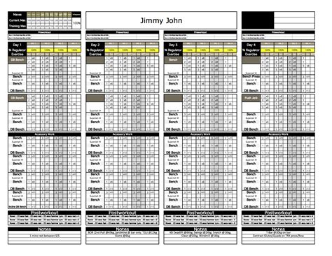 weight lifting template excel platinum strength conditioning excel template excel