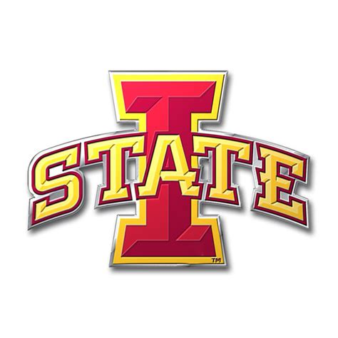 iowa state colors iowa state cyclones color auto emblem die cut
