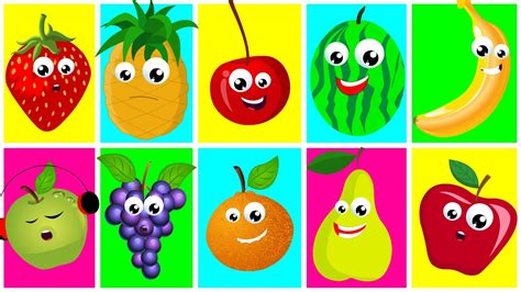 Ten In The Bed Fruits Nursery Rhymes For Kids Learn Fruits Songs For Toddler Kids Tv Youtube Pictures For Children