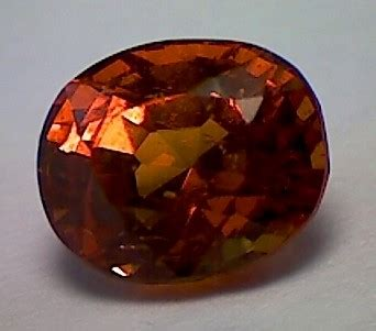 1 40ct certified fiery orange grossular garnet vvs