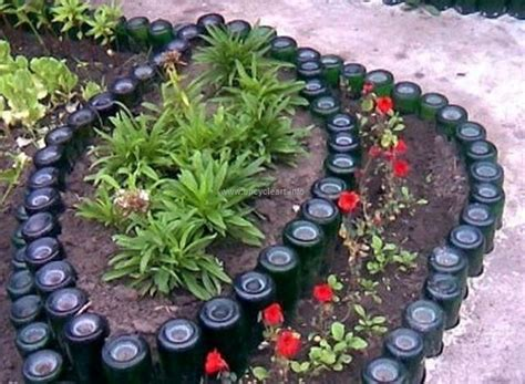 Recycling Ideas Garden Garden Ideas With Used Bottles Upcycle