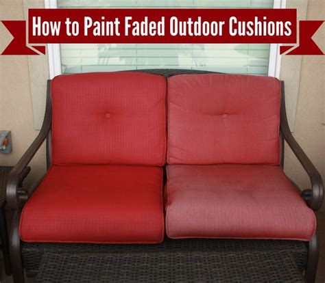 how to freshen up paint your outdoor cushions