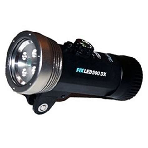 illuminatori subacquei acquasub illuminatore sea sea subacqueo fix led 500 dx