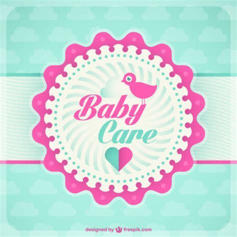 Kostenlose Vorlage ã Karte Baby Karte Vorlage Der Kostenlosen Vektor