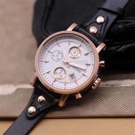 Jam Tangan Fossil Tali Kulit Pria jam tangan fossil f 020 tali kulit delta jam tangan