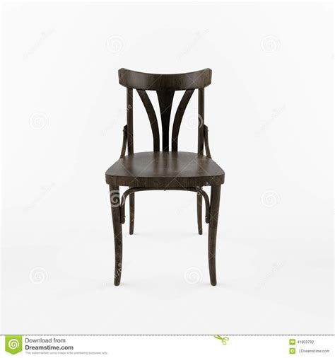 stuhl vorne 3 d retro chair front view stock illustration image of
