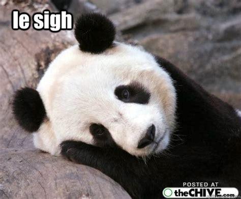 Sad Panda Meme - le sigh panda memes quickmeme