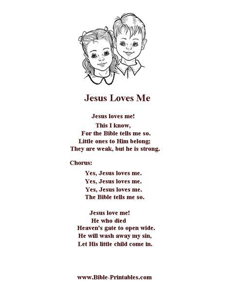 child song bible printables children s songs and lyrics jesus