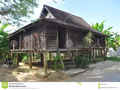 Asian House Plans malaysian wooden house stock photo image of historical