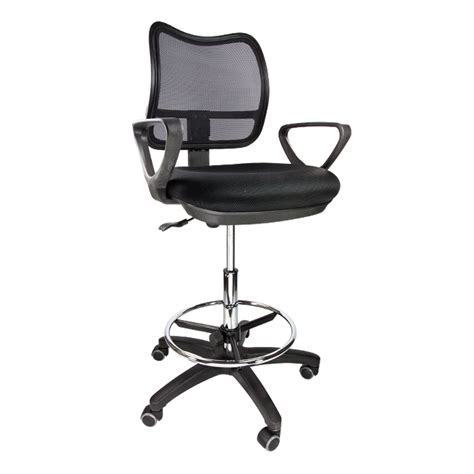 Ergonomic Office Stool Chair by 2 Drafting Chair Stool Armrest Ergonomic Mesh Adjustable