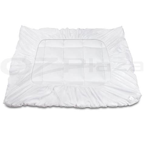 queen bamboo pillow top mattress topper pad 5cm buy bamboo fibre pillowtop mattress topper 1000gsm all size