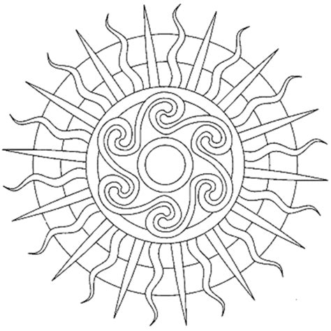 Sun Mandala Coloring Pages Mandalas Pinterest Sun Moon Mandala Coloring