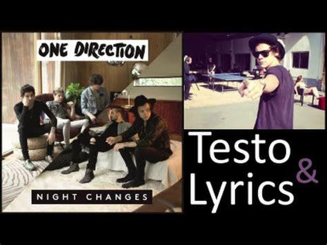 testo changes one direction changes testo traduzione lyrics