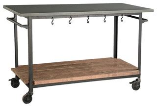 Houzz Kitchen Island On Wheels Rolling Console Cart Eclectic Kitchen Islands And