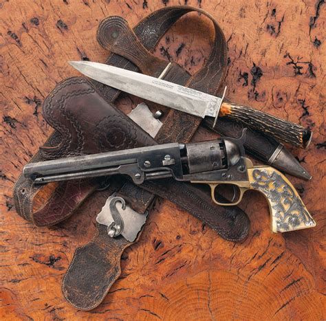 colt bowie knives attractive colt model 1851 navy percussion revolver with