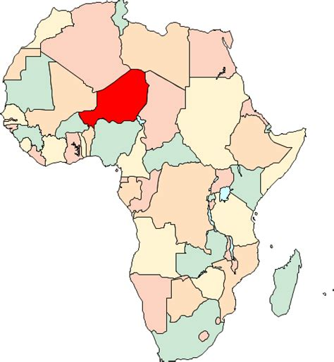 africa map niger niger in africa picture image by tag