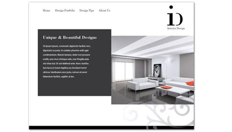 Best Interior Design Company Websites by Website Template For Interior Design Order Custom Website