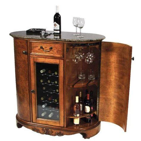 wooden wine cooler cabinet wine cooler wine bar cabinet granite top by keller