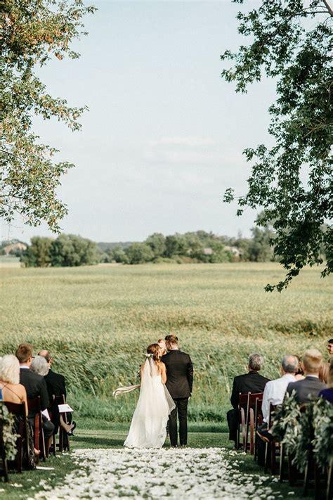 romantic farm wedding in minnesota real weddings